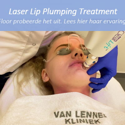 Blog Laser Lip Plumping Treatment Floor Banner